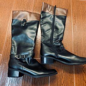 Valerie Stevens vegan / faux leather riding boots